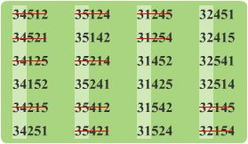 Сколько вариантов 3 из 5 [PUNIQRANDLINE-(au-dating-names.txt) 52